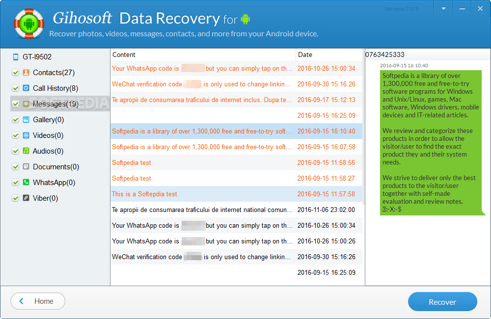 Download Gihosoft Android Data Recovery 8 2 1