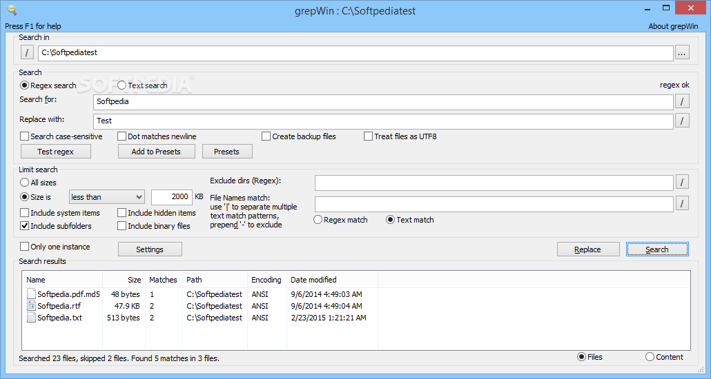 Download grepwin 1. 7. 0 (free) for windows.