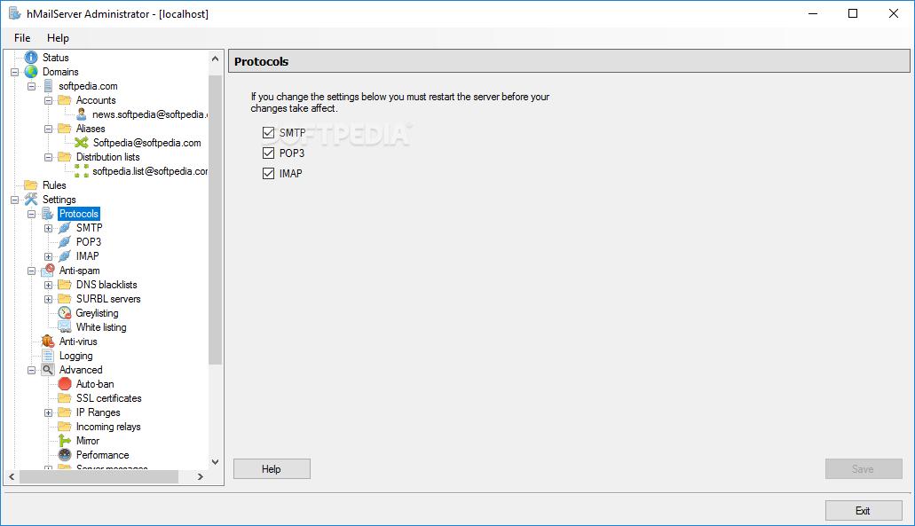 Download hMailServer 5 6 7 Build 2425 / 5 6 8 Build 2451 Beta