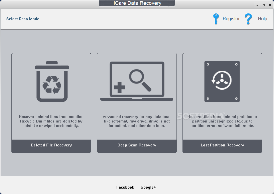 iCare Data Recovery Software screenshot 1 - iCare Data Recovery Software will help you take files back from formatted hard drive or RAW file system with powerful tools