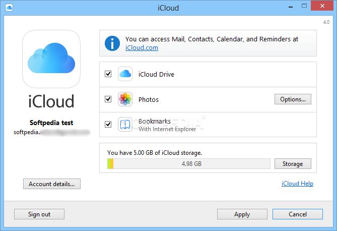 Download iCloud Control Panel 7 13