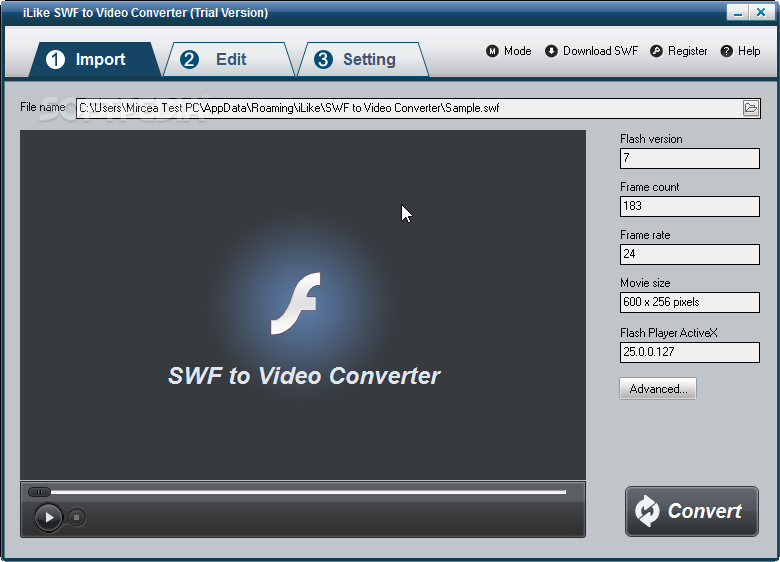 Download iLike SWF to Video Converter 2 8 0