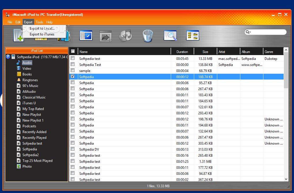 Download iMacsoft iPod to PC Transfer 3 0 4 0319