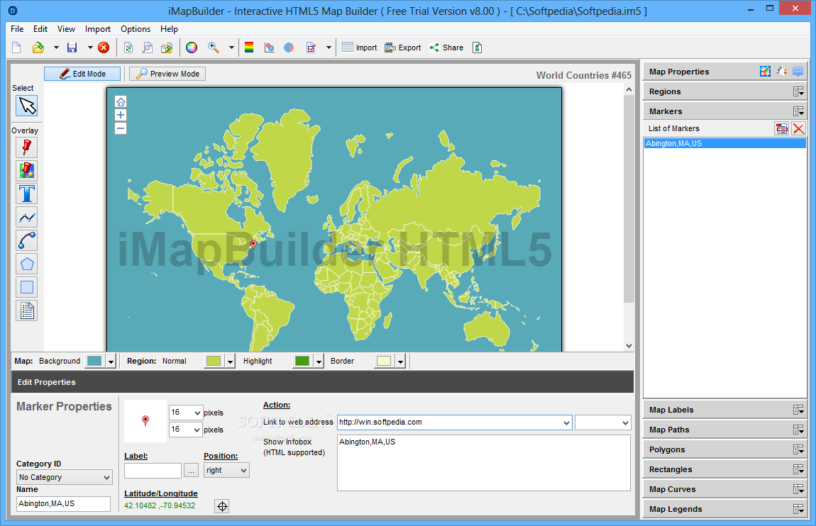Free Download Imapbuilder Interactive Map Builder For Windows 8 - Us-map-html5