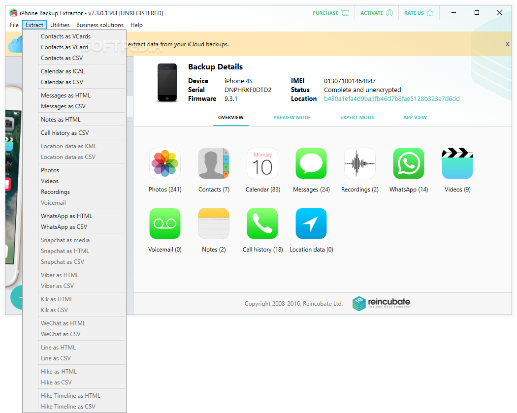 IPhone Backup Viewer is a free iPhone backup