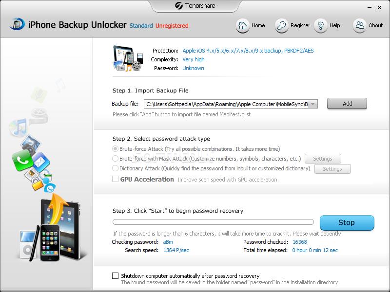 Download iPhone Backup Unlocker 5 1 0