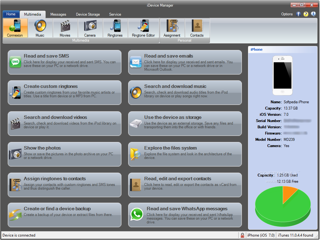 IDevice Manager Pro 8.5.0.0 Access To Files On IPhone