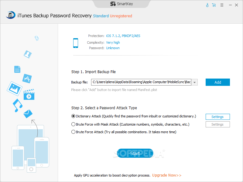 Download iTunes Backup Password Recovery 4 1 1 0