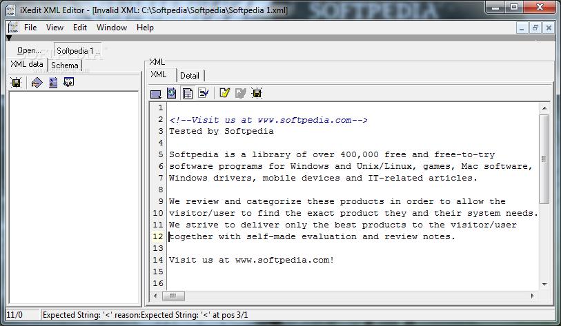 Download iXedit XML Editor 0 1 0 4 Beta 3