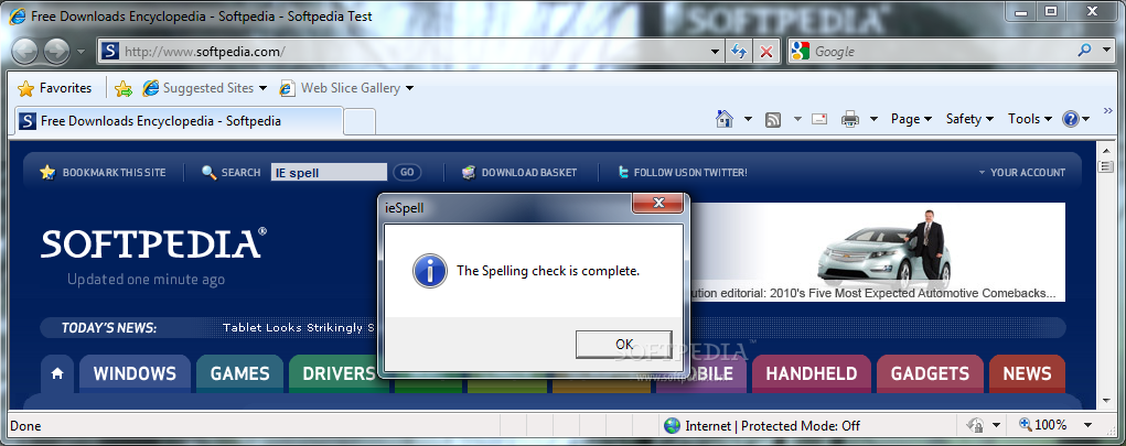 Download Spelling dictionaries for Internet Explorer Release