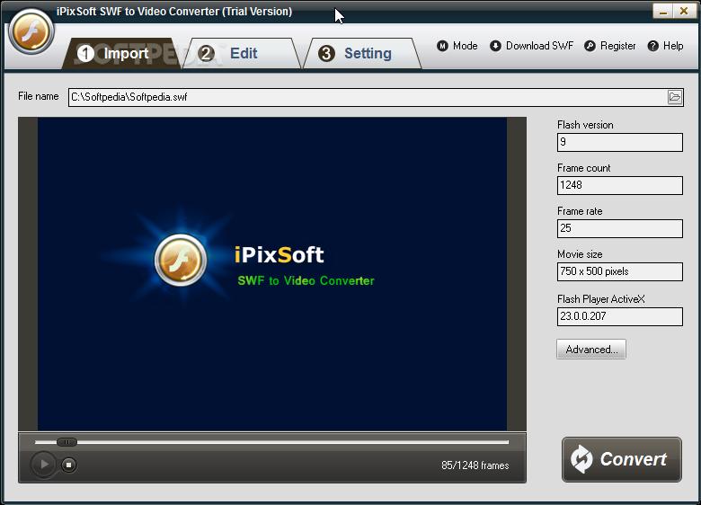 Download iPixSoft SWF to Video Converter 3 3 0