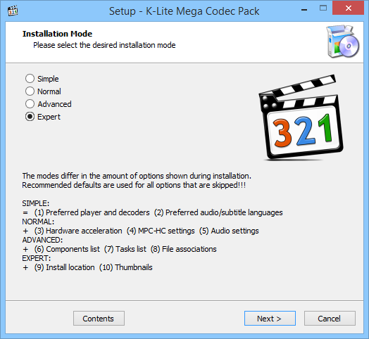 Download K-Lite Codec Pack Mega 15 1 6 / 15 1 7 Beta