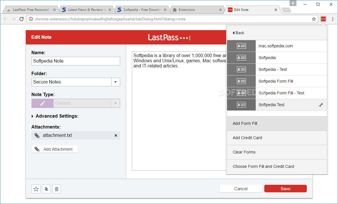 Download LastPass for Chrome 4 31 1