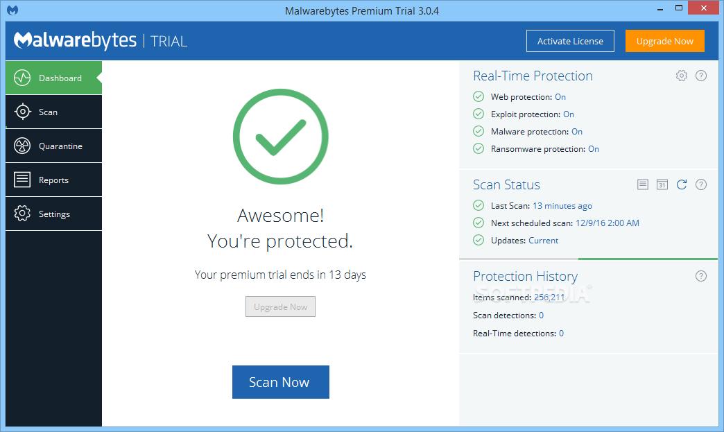 malwarebytes premium free trial