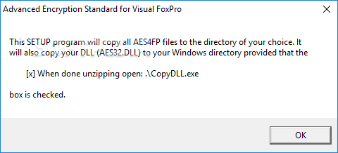 Download MarshallSoft AES Library for Visual FoxPro 4 2