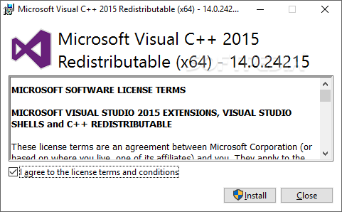 microsoft visual c++ runtime library x64