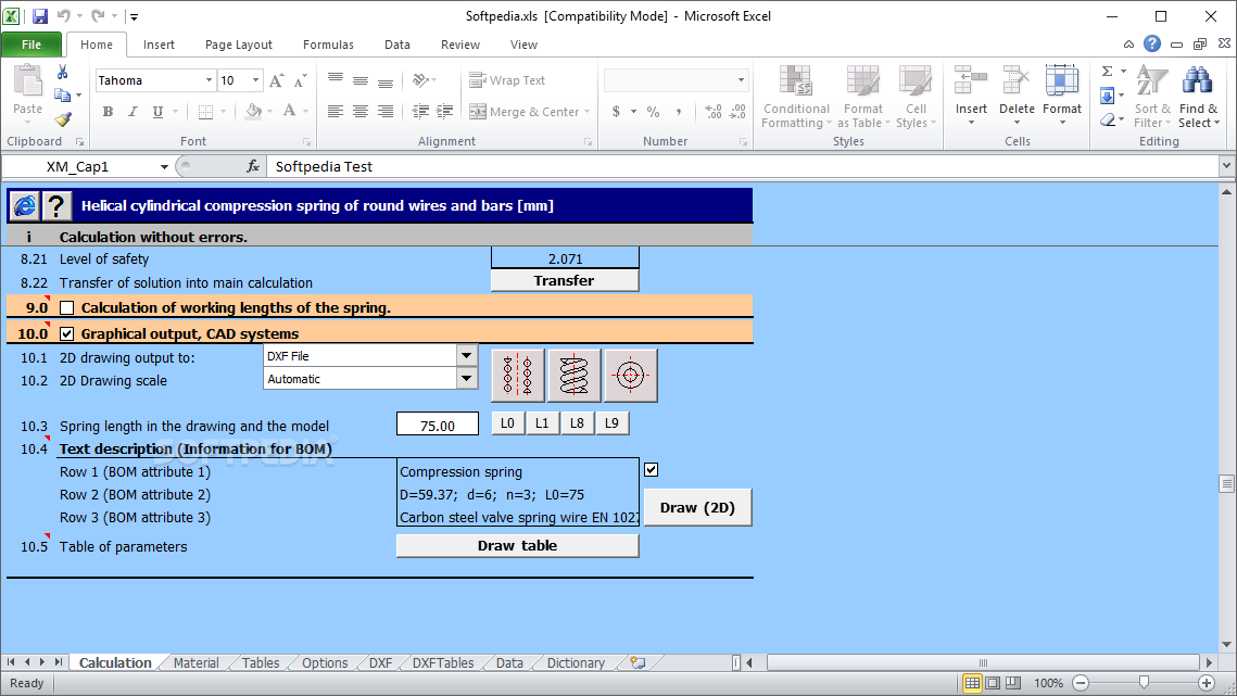 Download Mitcalc Compression Springs 1 23