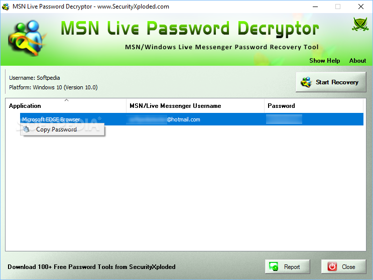 password msn txt
