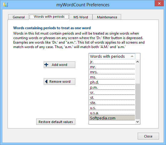 how to get word count on webpage