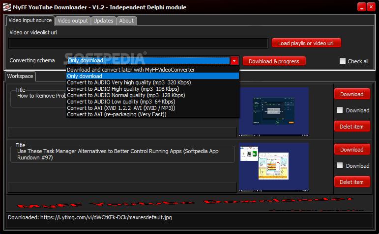 Download MyFF Youtube Downloader 1 3