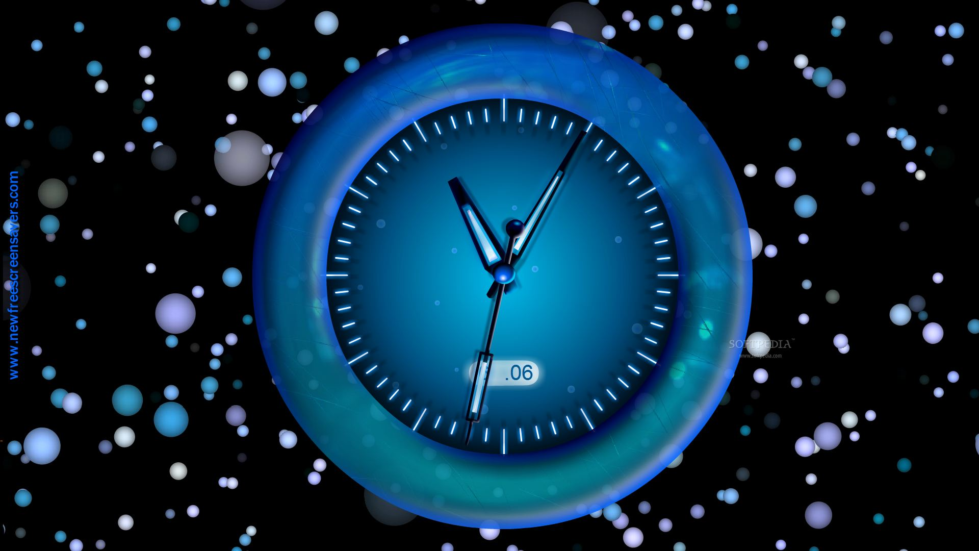 analog clock screensaver mac