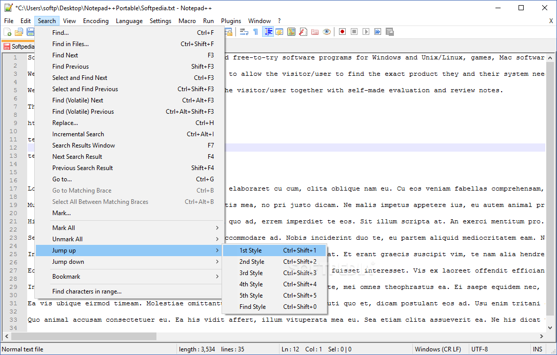 Download Notepad++ Portable 7 7 1