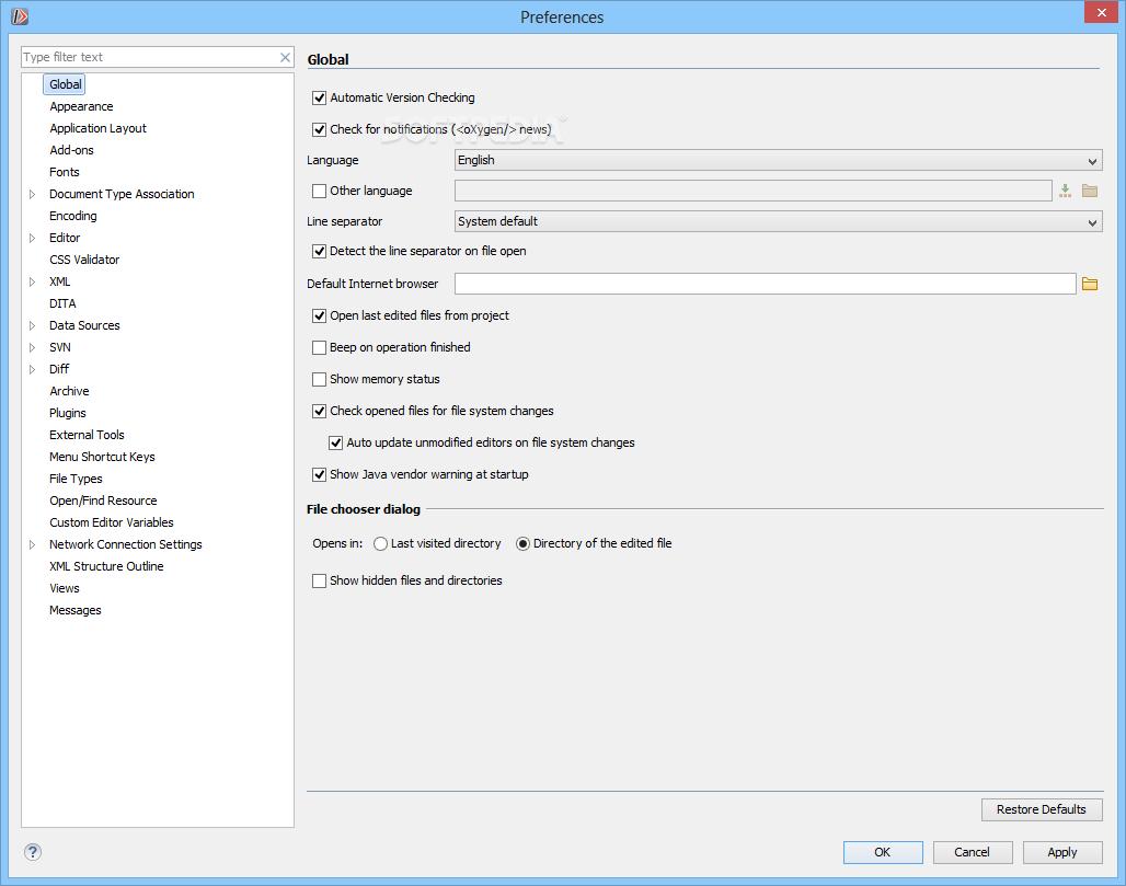 Download oXygen XML Developer 21 1 Build 2019071807