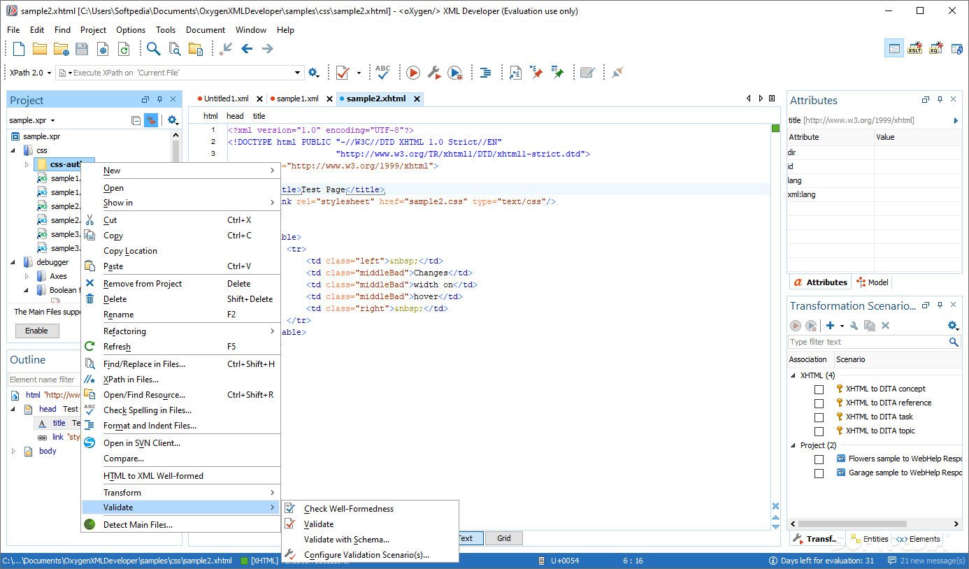 Download oXygen XML Developer 21 1 Build 2019071807