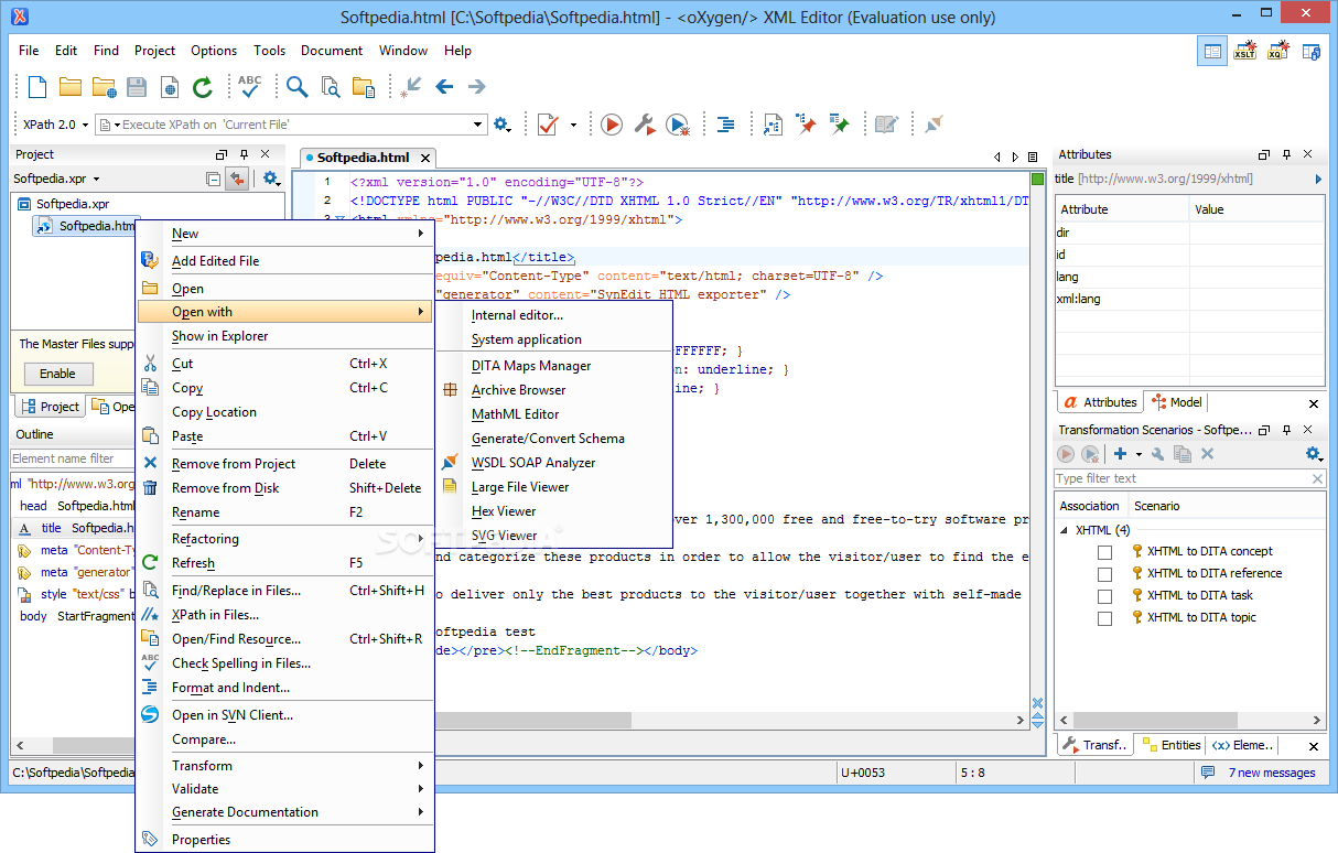 Download oXygen XML Editor 21 1 Build 2019071807