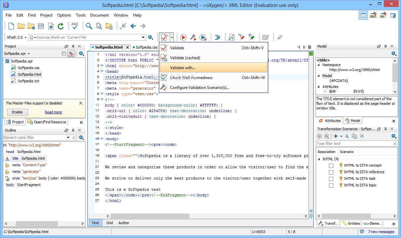 Download oXygen XML Editor 21 1 Build 2019071807