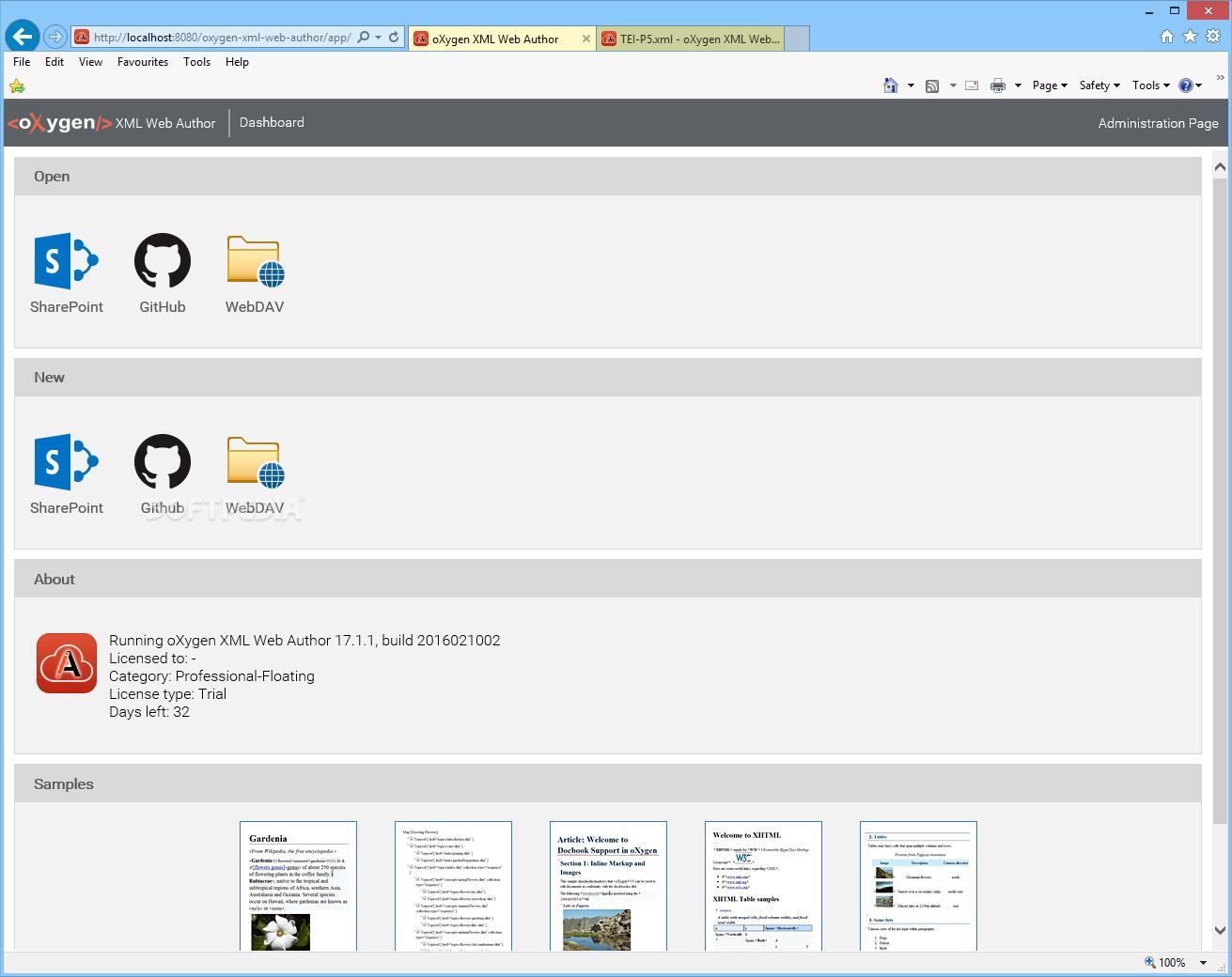 Download oXygen XML Web Author 21 1 Build 2019071905