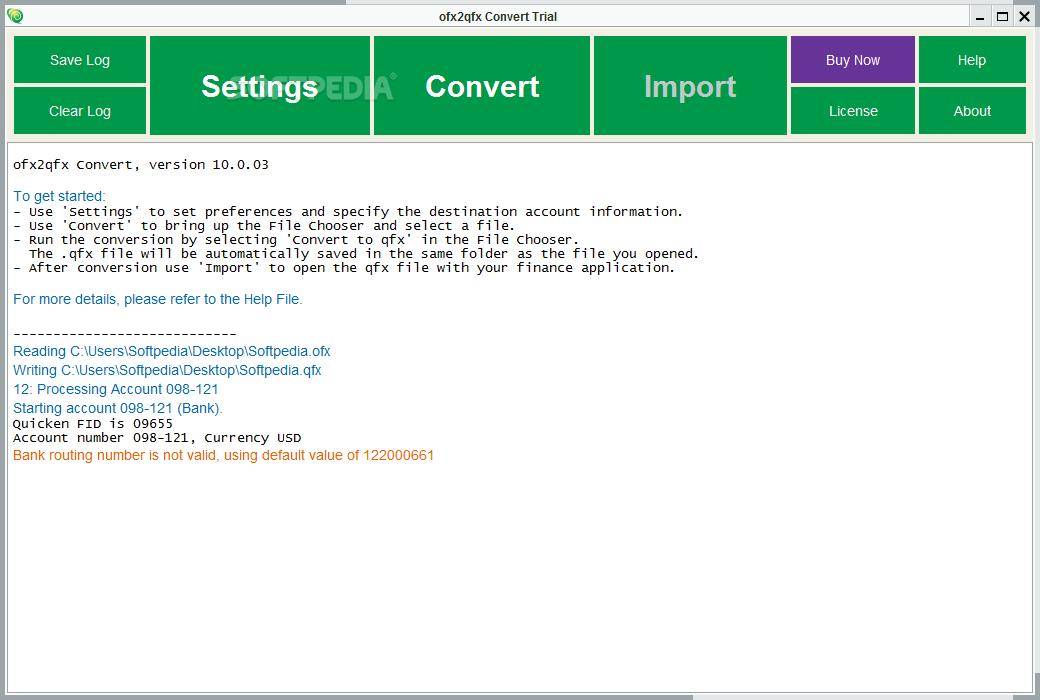 Download ofx2qfx Convert 12 3 02