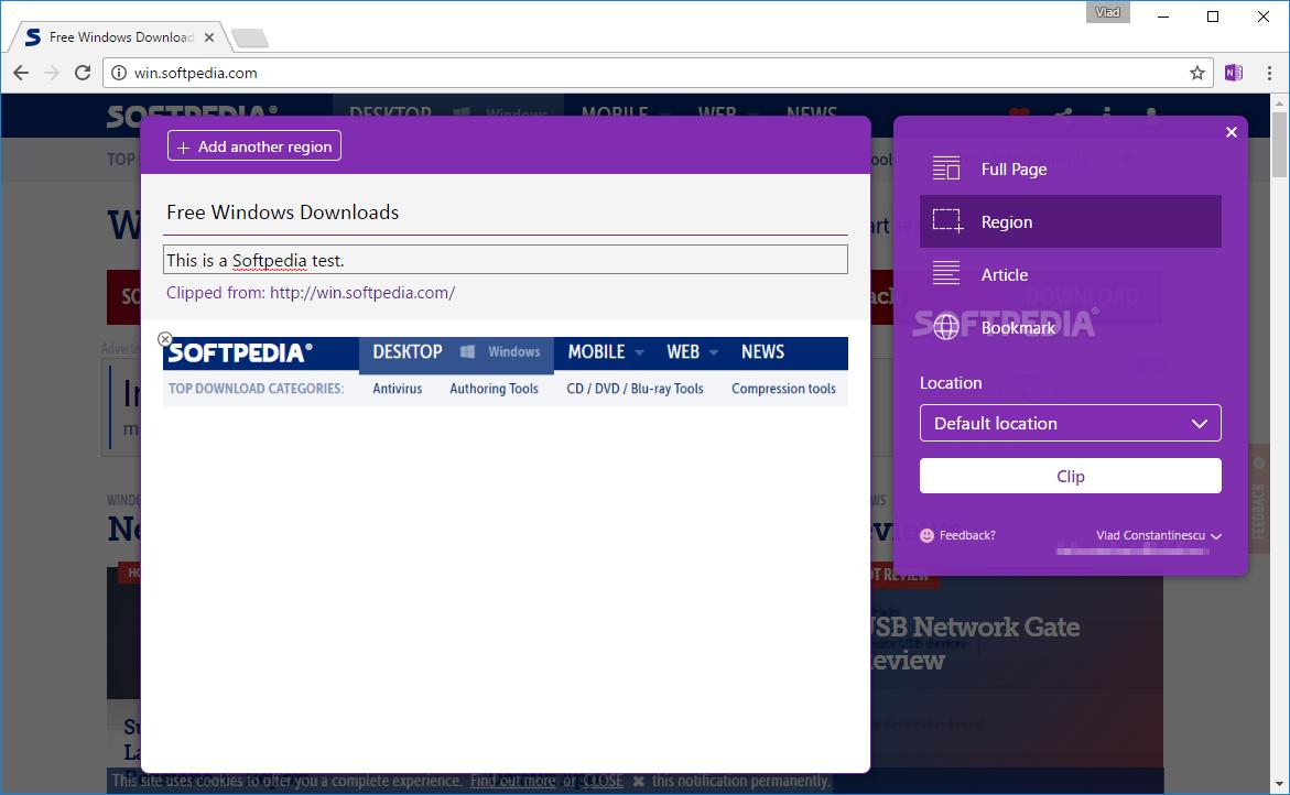 Download OneNote Web Clipper for Chrome 3 8 1