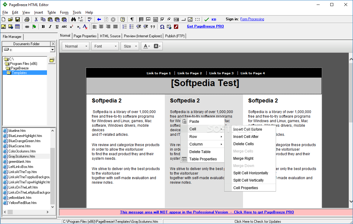 Download PageBreeze HTML Editor 5 0a