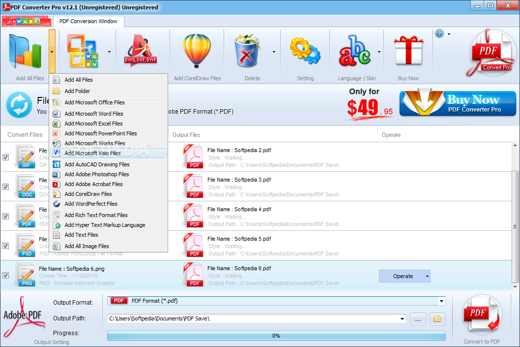 Pdf Converter Pro Add Individual Files Or Entire Folders With Office Related Items