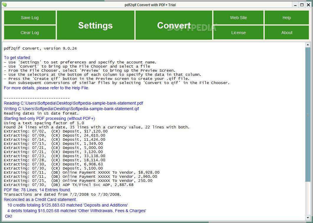 Download pdf2qif Convert+ 12 3 07
