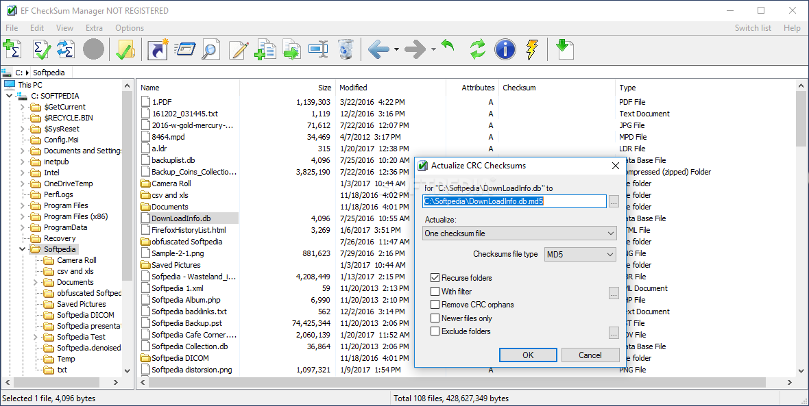 Download Portable EF CheckSum Manager 19 08