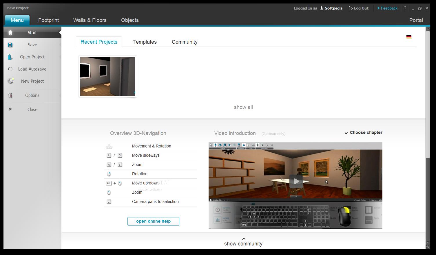 download roomeon 3d planner 1 6 2. Black Bedroom Furniture Sets. Home Design Ideas