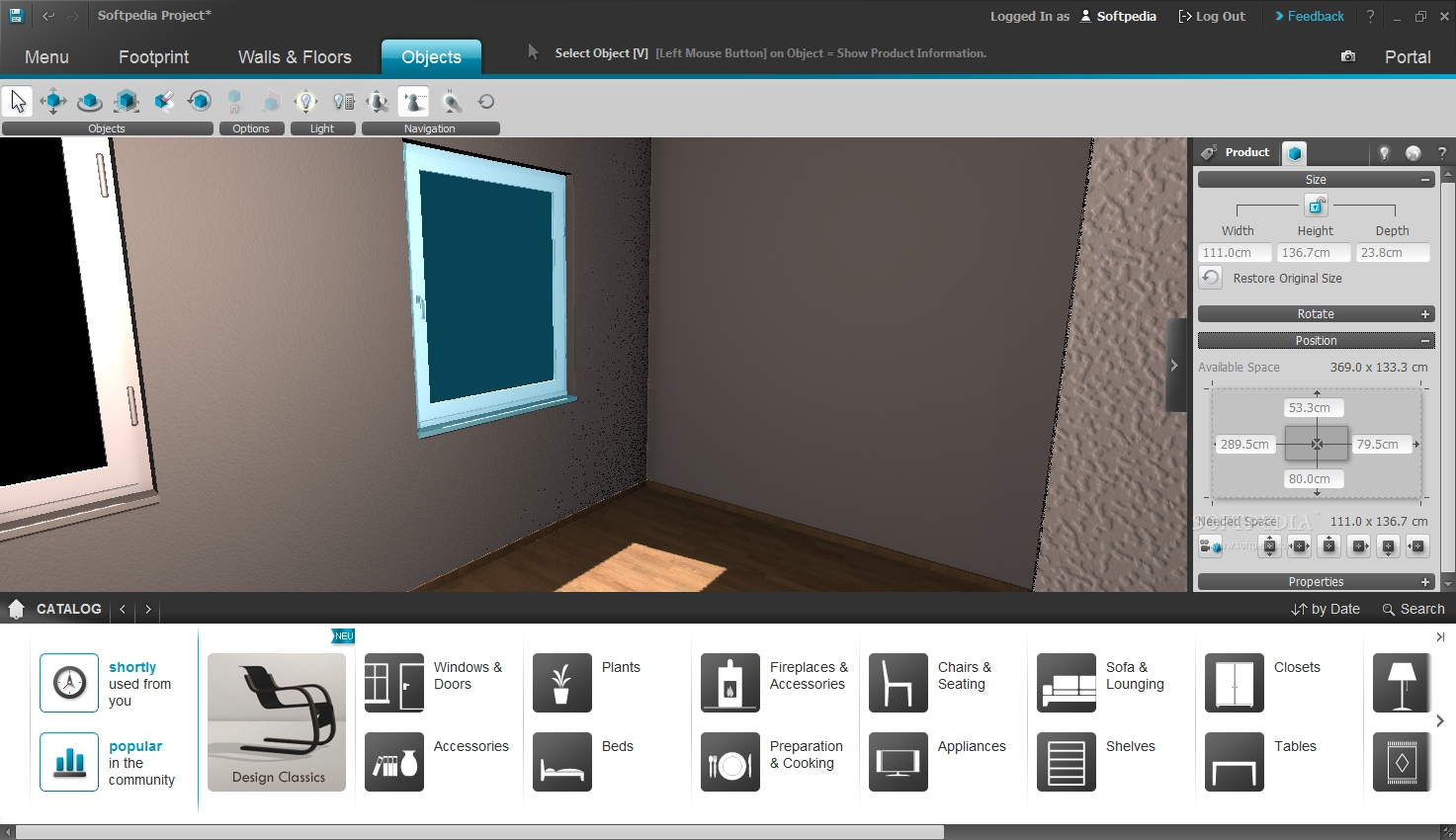 Roomeon 3d planner download for Wohnzimmer 3d planer