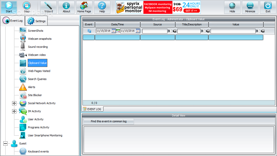 Download Spyrix Free Keylogger 11 4 3