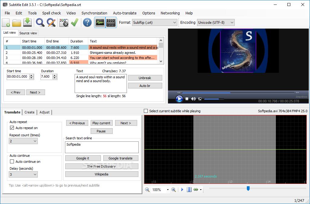 Download Subtitle Edit Portable 3 6 0