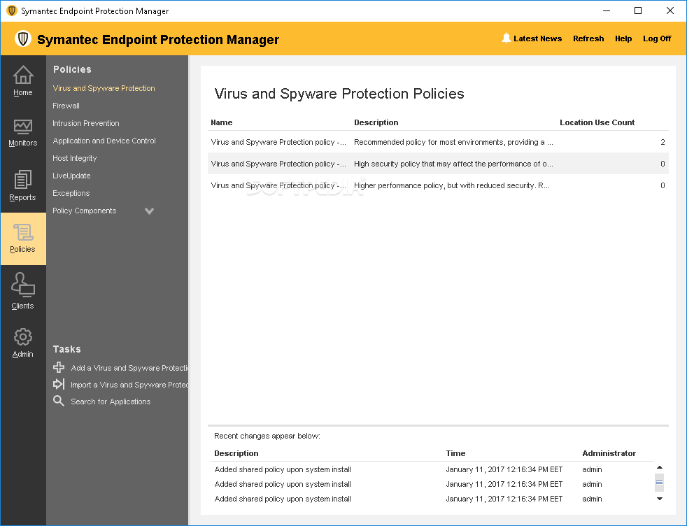 Download .jdb files to update definitions for Endpoint Protection Manager
