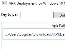 apk deployment for windows 10