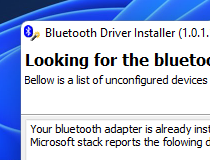 Bluetooth drivers installer