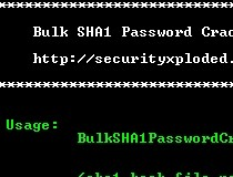 Download Bulk SHA1 Password Cracker 2 0