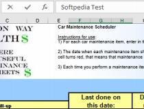 download car maintenance schedule spreadsheet