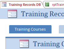 Employee Training Plan And Record Access Database Templates Screenshot