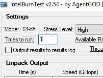 intelburntest 2.54