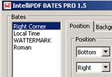 IntelliPDF BATES Stamp Pro 1.5 for Adobe Acrobat