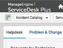 ManageEngine ServiceDesk Plus Screenshot